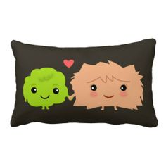 Wasabi and Ginger Love Each Other - Kawaii Design Throw Pillow - Use this link for coupon codes: https://www.zazzle.com/coupons?rf=238077998797672559