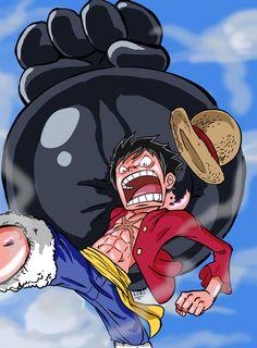 One Piece   Luffy   Gomu Gomu No Elephant Gun