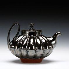 Blair Clemo - Teapot Mid range red stoneware with multiple glazes