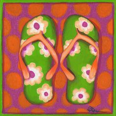 flip flop painting - Google Search