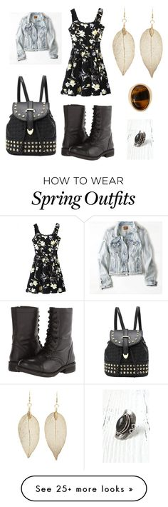 """""""Aria Montgomery - season 2 episode 2 - outfit 2"""" by samantha1-a on Polyvore featuring American Eagle Outfitters, Charlotte Russe, Steve Madden, Warehouse and LA: Hearts"""