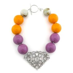 Nigerian wedding colourful hand made jewelry by Elva Fields Orange And Purple, Orange Color, Beautiful Friend, Vintage Brooches, Jewelery, Jewelry Accessories, Handmade Jewelry, Jewelry Making, Sterling Silver