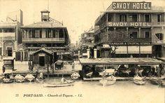 Savoy Hotel Port Said Hotel Savoy, Port Said, Egyptian Beauty, Old Egypt, Old Port, Cairo, Alexandria, Love Art, Old Photos