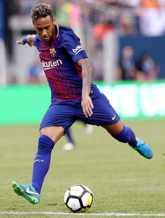 Neymar #11 of Barcelona heads for the net in the first half against Juventus during the International Champions Cup 2017 on July 22, 2017 at MetLife Stadium in East Rutherford, New Jersey.