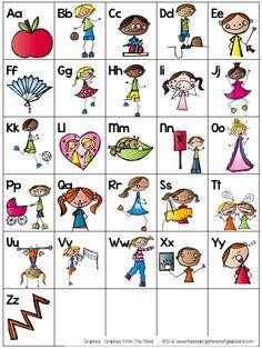 A Kindergarten Smorgasboard Alphabet Chart Freebie (to go with Dr. Jean's Alphardy)!  Smedley's Smorgasboard of Kindergarten: