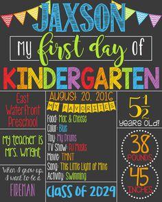 first day of preschool template