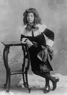 """A very young Buster Keaton in """"Fauntleroy"""" garb."""