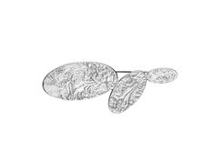 Oval pieces with a slightly beaten, pleated texture on the upper surface. #brooch #broche #agulla #fermall Collection #Vinyet by Carme Fàbregas #Joidart #Barcelona #IntenseAW13 #cadeau #gift #regalo #regal #handmade #crafts #plata #silver #argent