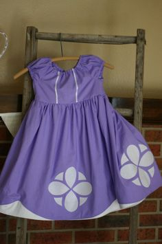 Sofia the First Dress up Dress/Costume by wonderfullymade139, $54.00