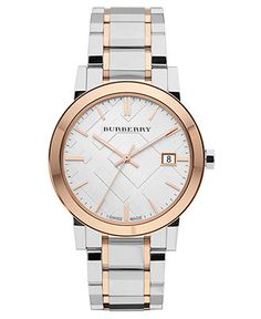 Burberry Watch, Women's Swiss Two Tone Stainless Steel Bracelet 38mm BU9006