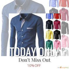 Today Only! 10% OFF this item.  Follow us on Pinterest to be the first to see our exciting Daily Deals. Today's Product: Men Fitted Button Down Buy now: http://www.allthingsexpress.com/products/men-fitted-button-down?utm_source=Pinterest&utm_medium=Orangetwig_Marketing&utm_campaign=Untitled%20Daily%20Deal%2028th%20April #musthave #loveit #instacool #shop #shopping #onlineshopping #instashop #instagood #instafollow #photooftheday #picoftheday #love #OTstores #smallbiz #sale #dailydeal…