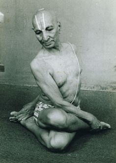 Krishnamacharya Loved and Pinned by www.downdogboutique.com to our Yoga community boards