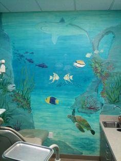ocean painted wall mural | ... mural.JPG provided by Melissa Barrett Paint Design Wall Murals