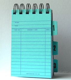 Library Card Note Book Notepad with Ledger card by CampfireDesigns