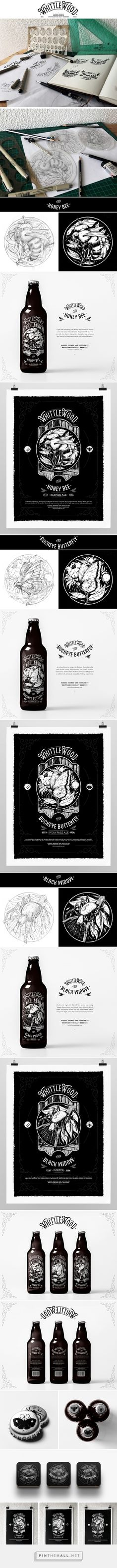 WhittleWood Craft Brewery packaging design by Christi du Toit - http://www.packagingoftheworld.com/2016/11/whittlewood-craft-brewery.html