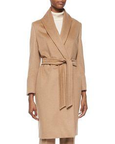 Agnone Camel Hair Mid-Length Wrap Coat by Max Mara at Bergdorf Goodman.