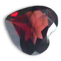 Buy online these high quality red garnet heart shape gems in 12mm up for sale at the wholesale prices.