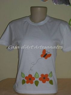 camisetas customizadas infantil - Pesquisa Google Sweater Shirt, T Shirt, Fabric Manipulation, Applique Designs, Clothing Patterns, Blouse Designs, Patches, Embroidery, Stitch