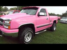 The group of men said they didn't want to lose to a pink truck.LOL