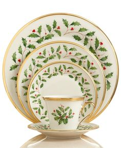 Lenox holiday place setting: http://www.stylemepretty.com/2016/12/03/holiday-decorating-wedding-registry-essentials/