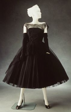 Evening Dress: ca. 1954, American, nylon.