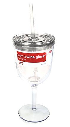 Wine To Go - BPA free plastic. Yes, please :)