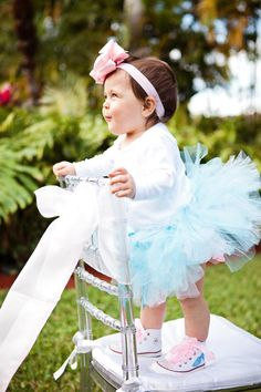 Birthday girl party attire / clothing idea! Cinderella Princess birthday party via Kara's Party Ideas karaspartyideas.com #princess #cinderella #party #clothes #attire #ideas #tutu #girl #birthday