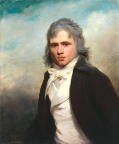 Sir William Beechey_Thomas Law Hodges 1795   The tax on hair powder went into effect in 1795. Some men still powdered but by 1800 it was rare to see a younger man with his hair still powdered.