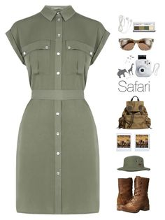 """""""~Safari~"""" by amethyst0818 ❤ liked on Polyvore featuring Billabong, Valentino, Timberland, Oasis, Burberry, Polaroid and Clinique"""