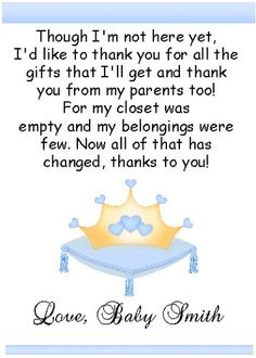 2 Our Little Prince Princess Baby Shower Thank You Cards | EBay