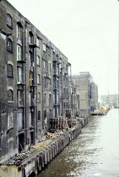 Old photo I took in London Docklands in the before it was redeveloped. This is New Crane Wharf. London Pictures, London Photos, Old Pictures, Old Photos, Vintage London, Old London, London City, Victorian London, London Docklands