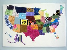 the good ol' USA out of fabric scraps thanks to pinterest