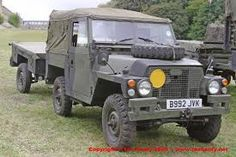 land rover Lightweight canvas top cover folded up- Militar.