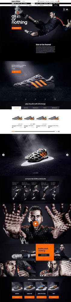 "For the release of a range of new football boots of adidas during the 2014 FIFA World Cup™ we created a seamless online experience and created tools for adidas and E-retailers to promote these new boots called ""The Battle Pack""."