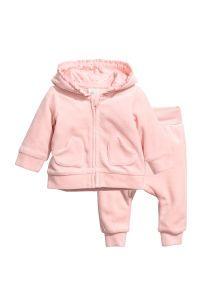 Velour Jacket and Pants | Light pink | SALE | H&M US