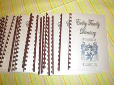 family directories: I like personalizing things for any party affair that I have. I have a family reunion coming up and I have been put in charge over it. I have had such