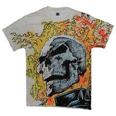 Marvel Ghost Rider Shirt Original 1991 Vintage Comic Book Tshirt 1990s Large Tee