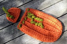 Crochet Pattern for Halloween Chunky Pumpkin Beanie Hat and Baby Cocoon - months - Welcome to sell finished items from Crochet by Jennifer. Chunky Crochet, Crochet Hats, Crochet Blankets, Chunky Yarn, Irish Crochet, Easy Crochet, Crochet For Beginners Blanket, Crochet Blanket Patterns, Crochet Pumpkin