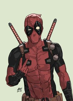 ArtStation - Dead Pool - Middle Finger, Dave Seguin