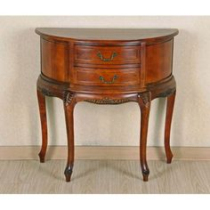 Half Moon Wood Wall Table With Two Drawers International Caravan Hall Tables Accent Tables