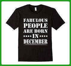 Mens Fabulous People Are Born In December T-Shirt, Birthday Tee XL Black - Birthday shirts (*Amazon Partner-Link)