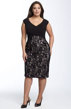 lace clothing for women   great dress!! This plus size party dress in matte jersey and lace ...