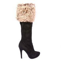 CIZME NEGRE FLUFFY STYLE  159,0 LEI Lei, Boots, Heels, Fashion, Crotch Boots, Heel, Moda, Fashion Styles, Shoe Boot