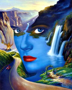 Home decoration Wall picture, Art HD Print Surrealism Oil painting on canvas, Jim Warren. Mother Nature. NO.A0577