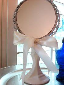 Homespun With Love: Dollar Store Mirror Revamp!