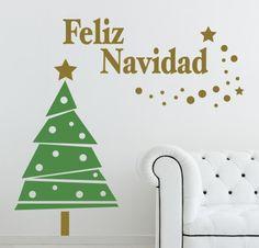 Vinilos navideños para decorar las paredes - #AdornosNavideños, #Decoración, #DecoraciónNavideña, #Navidad  http://lanavidad.es/vinilos-navidenos-para-decorar-las-paredes/3436