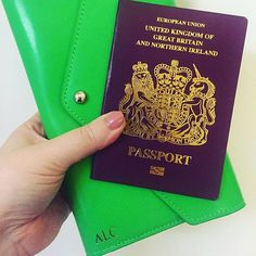 Enjoy your trip @amylysette we are glad you :hearts: your travel wallet :sunny::love_letter: • £38.00 • Limited Edition Apple Green • www.lrmgoods.co.uk • Check us out • #personalised #travel #travelling #airport #airportfashion #holiday #minibreak #girlf