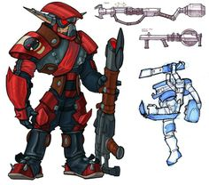 Krimson Guard had probably one of the coolest armour sets in gaming IMO (Jak II)