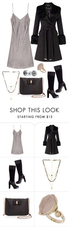 """""""Untitled #612"""" by rubysparks90 ❤ liked on Polyvore featuring Miss Selfridge, Versace, Ettika, Ted Baker, Topshop and Bling Jewelry"""