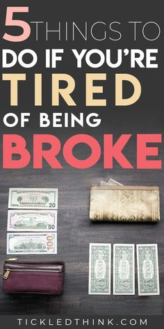 5 Easy Ways to Stop Being Broke Right Now - Finance tips, saving money, budgeting planner Ways To Save Money, Money Tips, Money Saving Tips, How To Manage Money, Money Hacks, Budgeting Finances, Budgeting Tips, Being Broke, Budget Planer